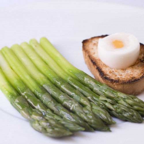 Green Asparagus, Poached Egg and Toasted Brioche