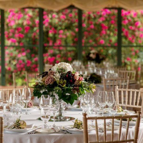 The Pavilion set for a wedding