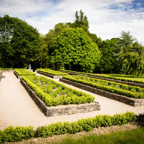 A view looking onto the Parterre Gardens