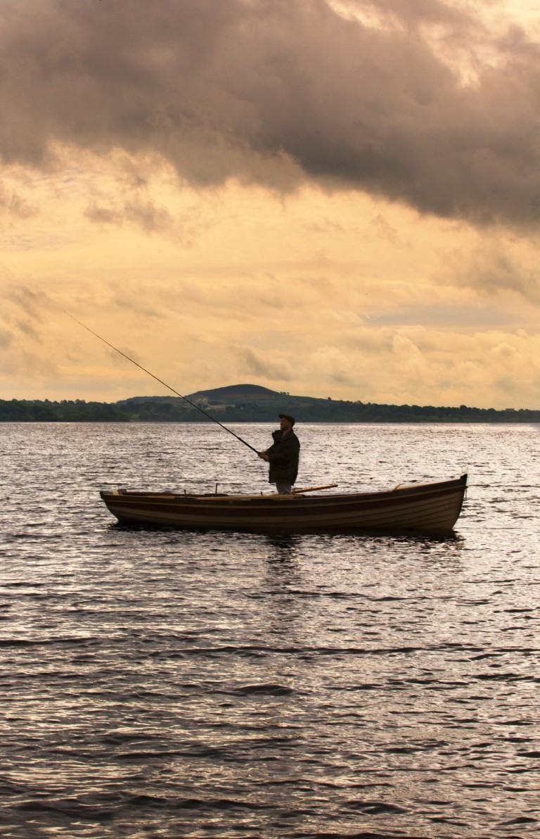 Fishing on lough Ramor