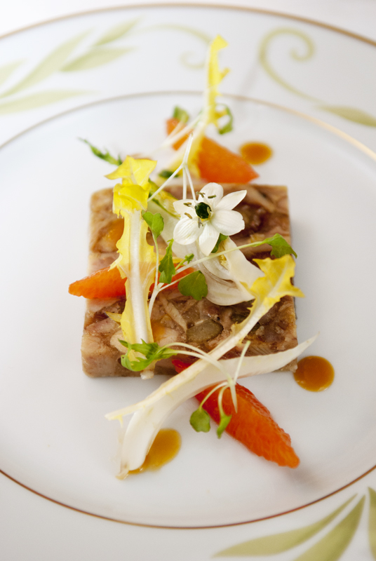 Pressed rabbit terrine